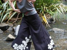 Pure linen pacific wrap-around harem pants.  Made in New Zealand and all natural.  Because clothing doesn't have to cost the Earth.  http://felt.co.nz/listing/120632/Wrap--Harem-Wide-Leg-Trousers---100-Cotton--Linen---Perfect-for-the-beach-in-summer---1-size-fits-all