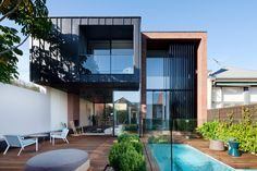 Abstract House by Matt Gibson Architecture + Design – casalibrary Architecture Design, Victorian Architecture, Cubist Architecture, Tiny House Design, Modern House Design, Duplex Design, Beautiful Interiors, Beautiful Homes, Outdoor Rooms