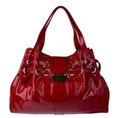 Jimmy Choo Red Patent Leather Shopper Bag