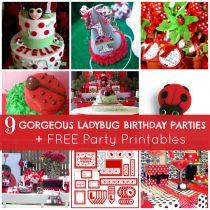9 Gorgeous Ladybug Birthday Parties + Free Printables