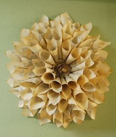 DIY wall decoration using paper. This would look cool in my classroom too.