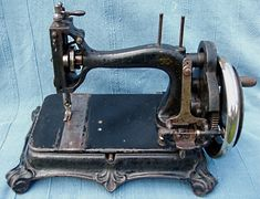 Atlas 'B': Serial No. 188610.   Made by Grimme, Natalis and Co. for the Atlas Sewing Machine Co. The Atlas Sewing Machine Co. advertised this model from c1894 to at least 1911.