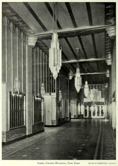 Inside the Lobby of the Chanin Building, New York City