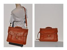 vintage leather MESSENGER BAG tote laptop carry all COACH ipad. $150.00, via Etsy.
