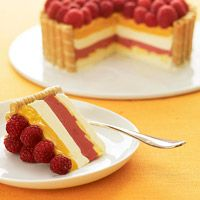 Fruit and Cream Dream - LHJ Fresh raspberries and mango are the stars of this refreshing yet decadent dessert.
