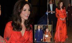 Kate Middleton dons £745 red dress featuring Bhutan's national flower