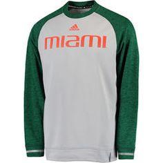 Men s adidas Gray Miami Hurricanes Sideline Player climawarm Sweatshirt U Of  Miami d4b8f88fe