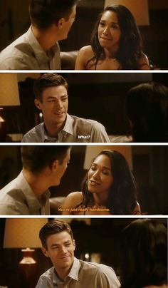 """You're just really handsome"" - Iris and Barry #TheFlash"