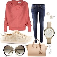 A fashion look from February 2013 featuring AllSaints sweaters, H&M jeans and H&M sneakers. Browse and shop related looks.