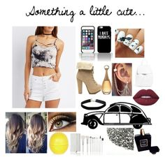 """""""Something a little cute"""" by alyssa4656 ❤ liked on Polyvore featuring Charlotte Russe, Miss Selfridge, Lime Crime, Mansur Gavriel, River Island and Chanel"""