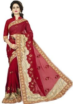 Red Saree, Red Color, Colour, Indian Designer Wear, Victorian, How To Wear, Dresses, Fashion, Color
