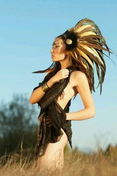 #feathers #headdress #warrior