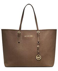 da2d615f569d73 MICHAEL Michael Kors Handbag, Saffiano Medium Travel Tote - Tote Bags -  Handbags Accessories -