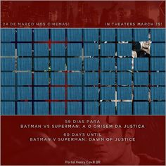 """59 dias para Batman vs Superman: A Origem da Justiça // 60 days until #BatmanvSuperman!  #TeamSuperman #BvS #HenryCavill #superman #aorigemdajustiça…"""