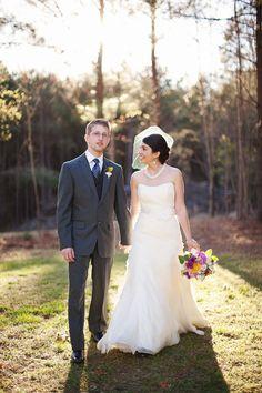 Rustic Outdoor Wedding: Navy, Stripes