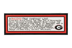 Magnolia Lane Georgia Bulldogs 8x23 Wood Plaque >>> More info could be found at the image url.