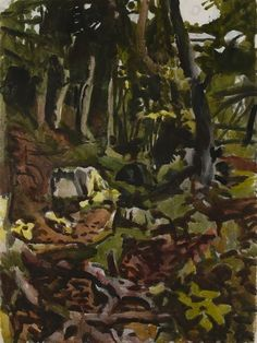 The Trail, Fairfield Porter, 1974, watercolor, 16 x 12