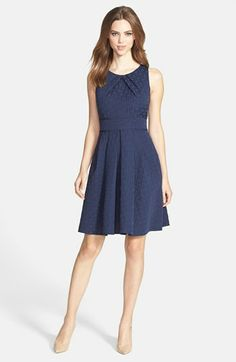 Eliza J Jacquard Fit & Flare Dress available at #Nordstrom