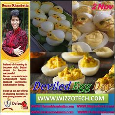 Deviled Egg Day There are many ways to prepare eggs but one of the most delicious is to make them into deviled eggs. If you havent tried this method before the perfect day to start is Deviled Egg Day.  #RuzanKhambatta #Day #specialcelebration #PoliceHEART1091 #PoliceHEART #Entrepreneur #Celebrate #WorldDay #National #NationalDay #InternationalDay #International #UN #US #SpecialDay #India #DeviledEggDay