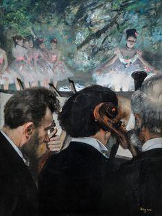 Edgar Degas - Orchestra Musicians, 1872