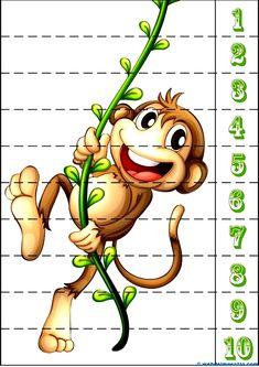 Children& puzzles - Educational resources and teaching material for children / . Preschool Education, Preschool Learning, Kindergarten Activities, Preschool Activities, Teaching, Puzzles Für Kinder, Maths Puzzles, Puzzles For Kids, Counting Puzzles