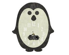 Penguin Clock. Handmade Wooden Clock. Decoupage by DarcyClocks