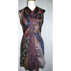 upcycled clothing   Recycled/Upcycled Draped and Woven Necktie Dress by Titi Wreh