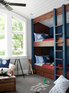 Otthon Ötlet: 27 nagyszerű emeletes ágy ötlet a gyerekszobába