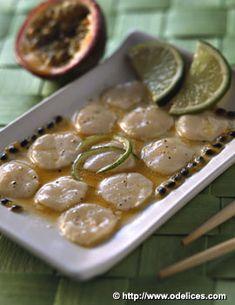 Noix de Saint-Jacques sauce citron vert passion - Ôdélices : Recettes de cuisine faciles et originales !