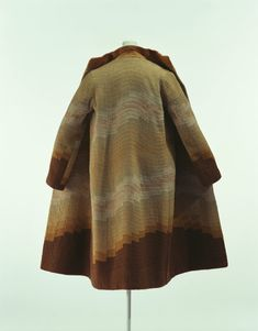 Sonia Delaunay coat, ca. 1925  Brown wool embroidered with yarn and silk thread