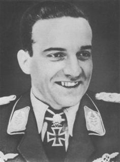The only holder of the Knight's Cross of the Iron Cross with Golden Oakleaves, Swords and Diamonds, Luftwaffe fighter pilot Hans Ulrich Rudel.