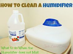 How to Clean a Humidifier & What to do when the humidifier does not mist. #DIY