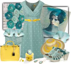 """Blue and Yellow"" by daisy1980 ❤ liked on Polyvore"