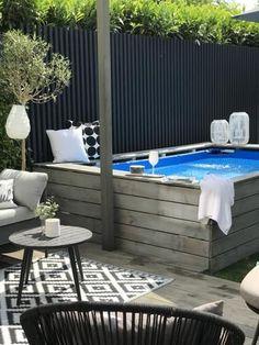 Backyard Pool Designs, Small Backyard Pools, Swimming Pools Backyard, Swimming Pool Designs, Above Ground Pool, In Ground Pools, Kleiner Pool Design, Small Pool Design, Mini Pool
