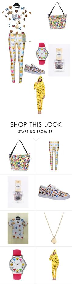 """""""Emoji #1"""" by andii15 ❤ liked on Polyvore featuring beauty, WithChic, Vlado, Bing Bang, A Classic Time Watch Co. and Briefly Stated"""