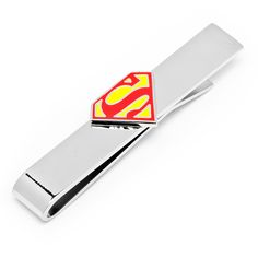 DC Comics Enamel Superman Shield Tie Bar by Cufflinksman.com