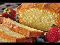 Pound Cake Recipe Demonstration - Joyofbaking.com  Going to try making this in the bread machine.