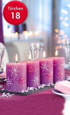 Marabu Adventskalender! Zur Anleitung:  http://www.marabu.de/kreativ/idee/dekorative-kerzen-mit-weihnachtssternen/ #Marabu #Adventskalender #XMAS #basteln #DIY