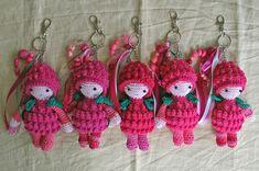 Vorig jaar haakte ik 5 Frambloosjes. Het patroontje is van Angel's Creations Crochet en kan je hier gratis downloaden. Het werden tasha...