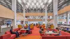 The Wentworth Institute Library required an acoustic solution that could be installed directly to its concrete ceiling and walls. SoundPly's Latus Acoustic Wall Panels and Alta Acoustic Ceiling Panels were the only viable solution. Architect: Perkins & Will Installers: American Contractors Corps. Interior Design Awards, Interior Design Magazine, Wentworth Institute Of Technology, Acoustic Ceiling Panels, Public Library Design, University Of Massachusetts, Workplace Design, Showcase Design, Commercial Design