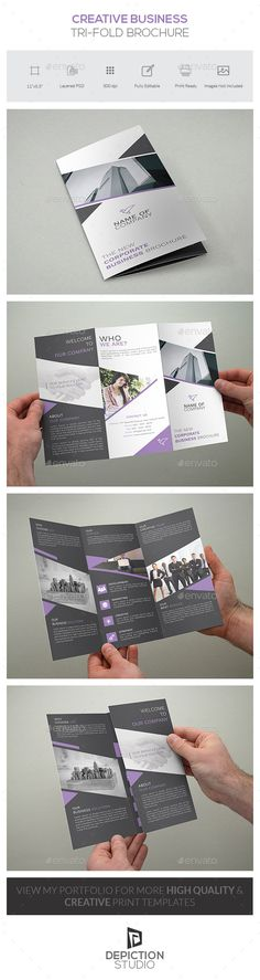 Creative Business Tri-fold Brochure Template PSD #design Download: http://graphicriver.net/item/creative-business-trifold-brochure/13631167?ref=ksioks