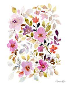 Art Print Floral Garden