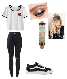 Skater Girl #1 by serenburgess on Polyvore featuring polyvore fashion style Vans clothing
