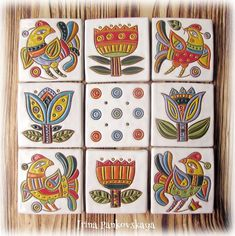 Спасибо за теплые пожелания и поддержку Друзья мои)))очень ценю это!  Эти изразцы задумывала ,как панно ... оформить в рамку))Но видимо придется разбивать))Разбивать не в прямом смысле....а просто продавать по одному!)🐤🐤🐤🌹🌹🌹🌻  #изразцыручнойработы #изразцы #керамика#ручнаяработа #ceramics #clay #handmade