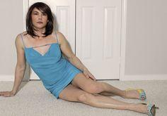Marcy Simpson founder of #crossdresser society.com enjoying taking a break in front of the camera. #break #feminine