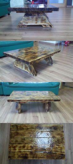 폐목재 만든 티테이블