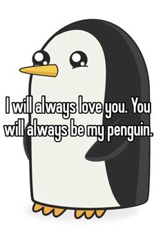 for Marc-Andre Fluery All About Penguins, Penguins And Polar Bears, Baby Penguins, Penguin Quotes, Penguin S, Love You, My Love, Love And Marriage, Make Me Smile