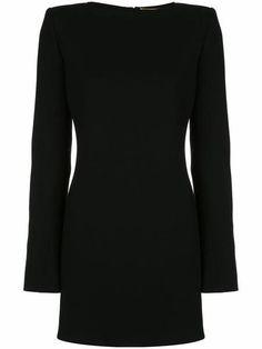 Black Wool, Black Silk, Saint Laurent Dress, Wool Dress, E Design, World Of Fashion, New Dress, Mini, Short Dresses
