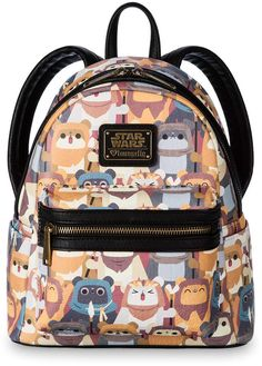 5507bbb6896 Loungefly Star Wars Ewok Faux Leather Mini Backpack for sale online.  Lizette Cabrera