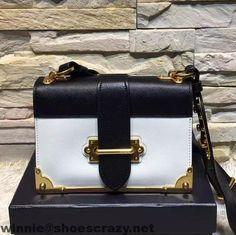 Prada Calfskin Cashier Flap Bag Fall 2016